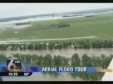 Aerial Footage of Ft Calhoun Nuke Plant Flooding No Fly Zone Enforced innondation et accident à la centrale nucléaire de Cahloun USA Nebraska