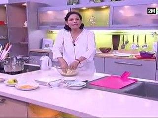 Choumicha Dessert Facile - verrine façon crumble à la Vanille Pomme Et Gelée d'abricots