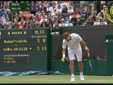[HD] SET1 Rafael Nadal vs Gilles Muller R3 WIMBLEDON 2011 [Highlighs by Courtyman]