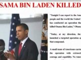 "Obama ""Osama Bin Laden KILLED by US"""