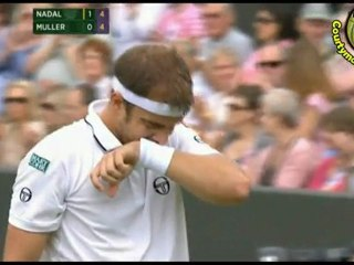 [HD] Rafael Nadal vs Gilles Muller R3 WIMBLEDON 2011 [Hot Shots by Courtyman]