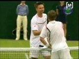 Rafa Nadal i Gilles Muller reanuden el partit