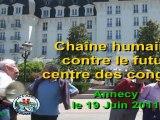 Chaîne humaine contre le futur centre des congrès le 19 Juin 2011