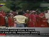 Ceremonia indígena en Venezuela por la salud de Chávez