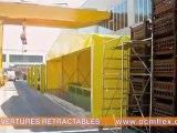 COUVERTURES RETRACTABLES - Couverture pour bâtiment de stockage