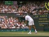 [HD] SET1 Rafael Nadal vs Juan Martin Del Potro R4 WIMBLEDON 2011 [Highlighs by Courtyman]