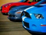 Drag Race! 2012 Nissan GT-R vs 2011 Chevy Corvette Z06 vs 2011 Shelby GT500