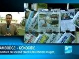 Cambodge : Quatre hauts responsables khmers rouges sur le banc des accusés