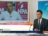 l'invité de F3 Aquitaine philippe poutou candidat  N.P.A pour 2012