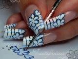 nail art fleurs bande dessinée / comics flowers nail art