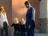Primer día de colegio de las infantas Leonor y Sofía