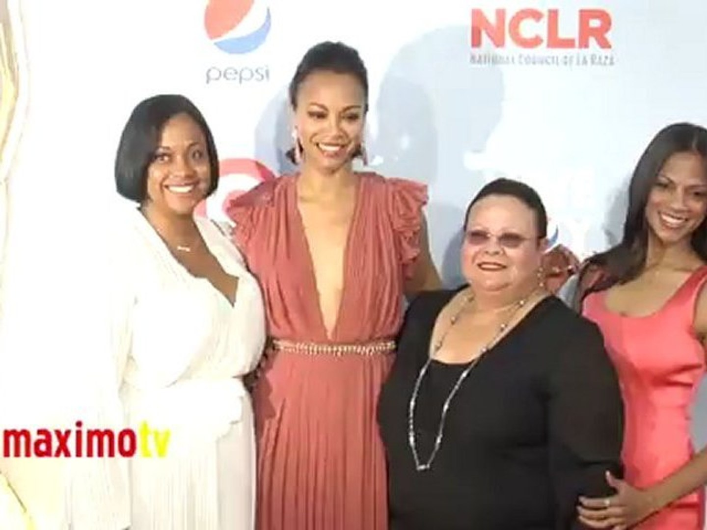 Zoe Saldana and Family ALMA Awards 2012 Arrivals
