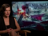 Resident Evil - Retribution - Generic Interview - Milla Jovovich