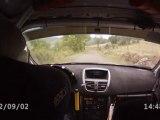 caméra embarquée es 9 JP MONNIN Franck GILLIOT Rallye terre de Lozère 2012 207 R3T