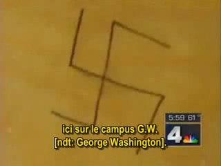 Une étudiante juive peignait des croix gammées sur sa porte et criait ensuite à l'antisémitisme (VOSTFR)