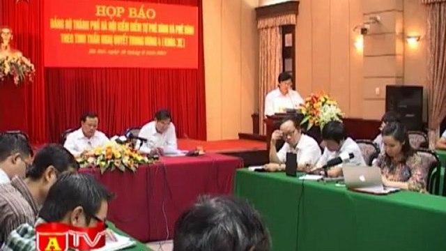 ANTÐ -Ban Thường vụ Thành ủy Hà Nội thực hiện tinh thần Nghị quyết Trung ương IV