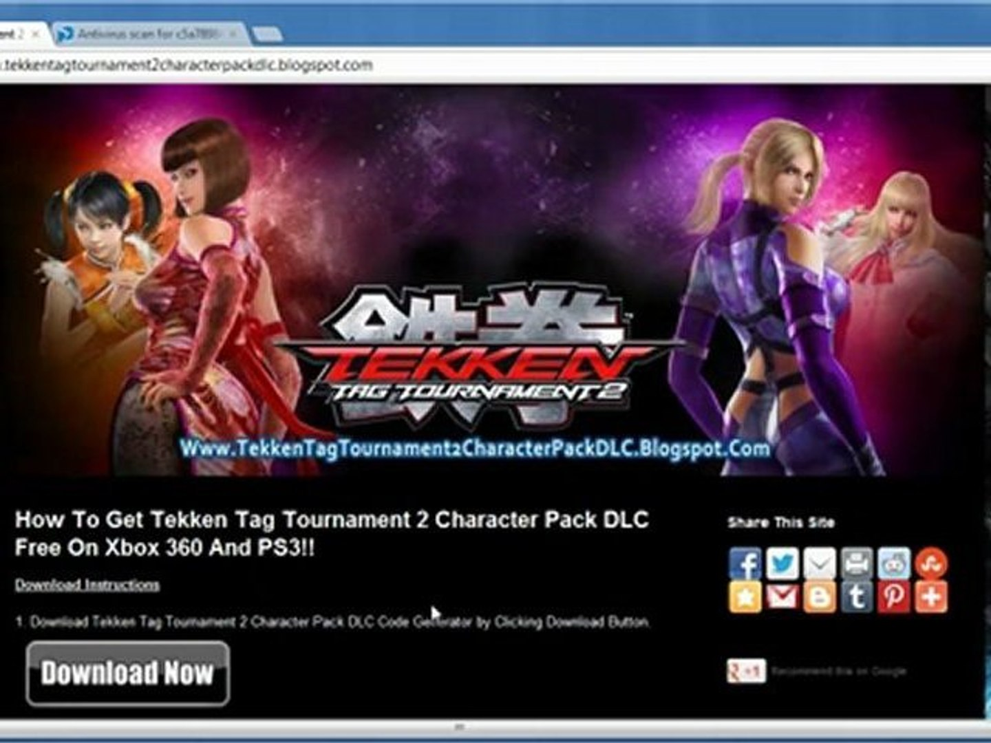 How To Download Tekken Tag Tournament 2 Character Pack Dlc Video