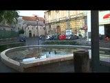 Aversa (CE) - Piazza Vittorio Emanuele: la fontana a secco