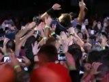 Bruce Springsteen crowd surfs in New Jersey