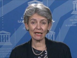 Irina Bokova, Directrice générale de l'UNESCO soutient la JFOI