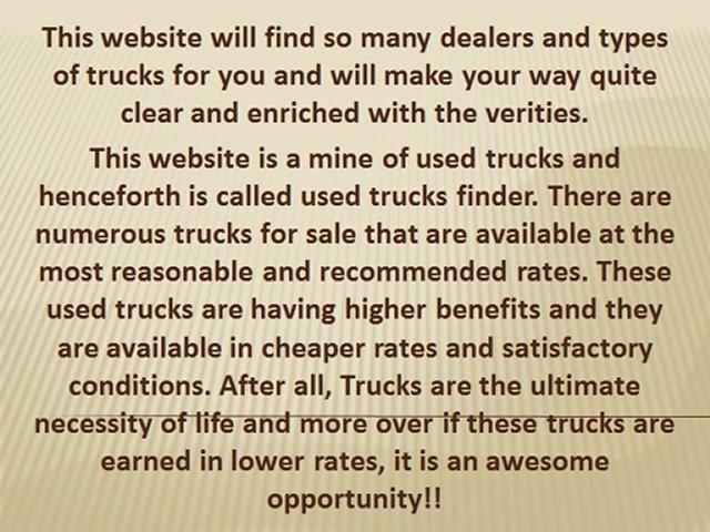 Trucks Finder