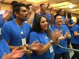 Die-hard fans flood Apple stores as iPhone 5 goes on sale