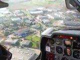 Atterrissage Lyon Bron (LFLY) piste 16 17kts rafale 25kts en DR400 Ecoflyer