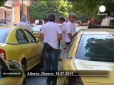 Les taxis grecs bloquent les rues d'Athènes - no comment