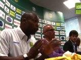 Première conférence de presse de Sylvain Wiltord sous la maillot du FC Nantes