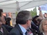 VERSION HD : L'ENVERS DU DECOR DE L'INAUGURATION DE LA DESTRUCTION DE LA BARRE BALZAC (LA COURNEUVE) 20/070/11