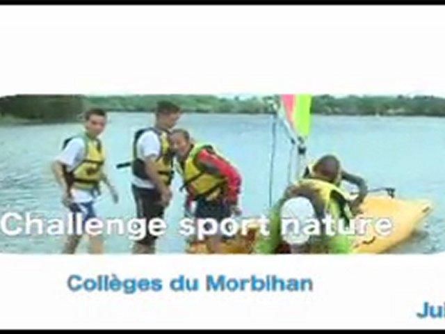 Challenge sports nature des collèges du Morbihan