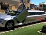 Showtime Limousines Silver Chrysler 300C Limousine Hire Perth