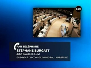Tensions au conseil municipal de Marseille