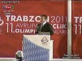 4 Suat Kılıç konuşması Gençlik Olimpiyat Kapanış 2011 Trabzon