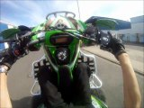 Quartier-946 - PACK : P'tit wheeling en Kawasaki KFX 450 R (test GOPRO HD)