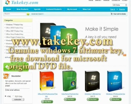 Genuine Windows 7 Ultimate Product key, fresh activation CD license  Free  download link