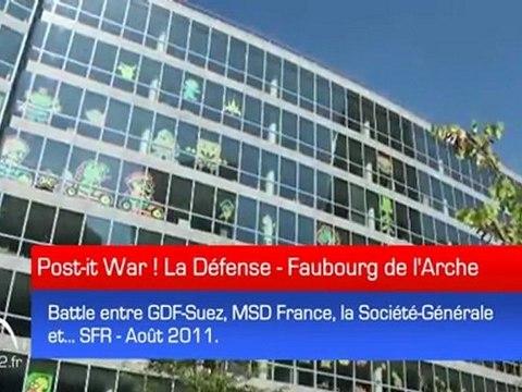 """Une Battle haute en couleurs de """"Post-it"""" bat son plein au Faubourg de l'Arche - Post-it War !"""