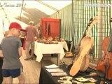 Hautes Terres 2011 exposition et lâcher d'artistes par couleur cantal tv