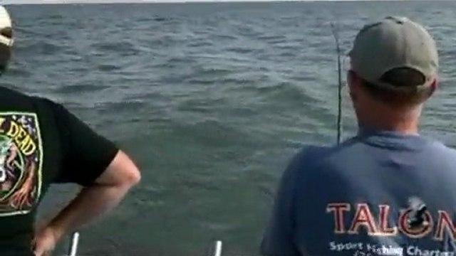 Charter Captains Jim, Rich and John walleye fishing Lake Erie Michigan 2011