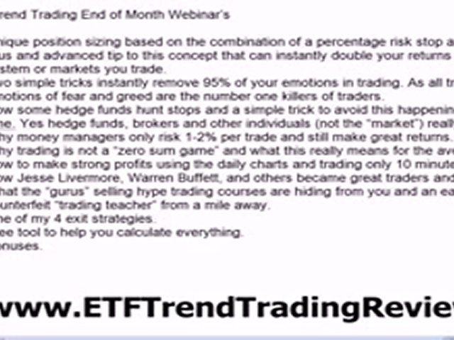 ETF Trend Trading – Learn To Trade ETF's
