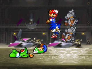 SMBZ - Team Mario & Sonic vs Army Basilisx