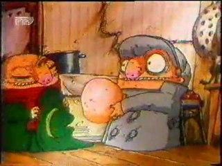 Russian cartoon: The Pilot Brothers Make Spaghetti for Breakfast (+English & Russian subtitles) 1996