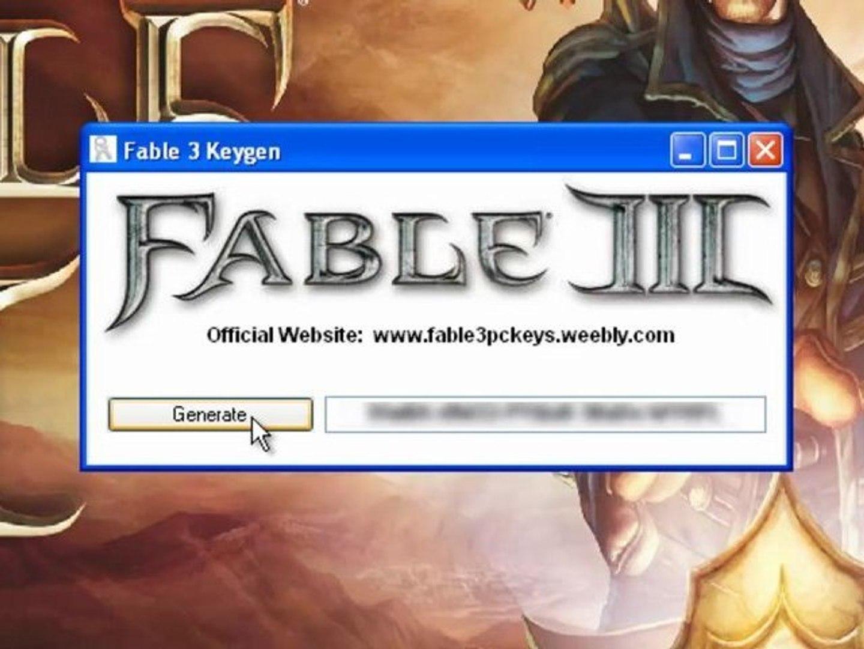 Fable 3 keygen