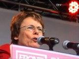 Martine Billard au Meeting du Front de Gauche - Place Stalingrad - Paris (29 juin 2011)