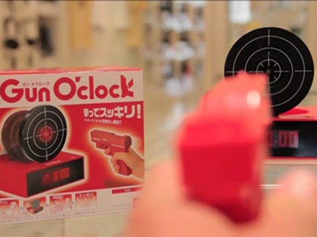 Unusual Alarm Clock: Bandai Gun O'clock Alarm Clock
