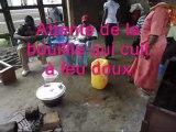 PRODER-SUD Congo BZV. Atelier Soja. Fabrication de farine de sevrage à base de soja