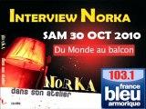 Interview Radio NORKA France Bleu Armorique (Extraits)