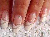Nail art french manucure de mariage / How to do a wedding manicure