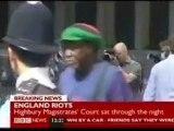 London riots - looter Alexis Bailey walks into lamppost ...