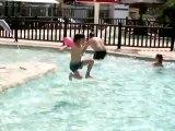 justine à la piscine